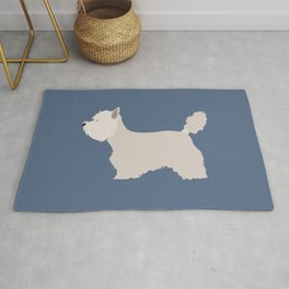 White West Highland Terrier Dog Rug