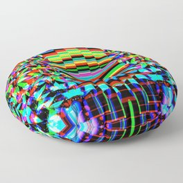 Seamless colorful pot leaf pattern Floor Pillow