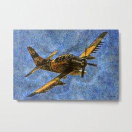 118 AE-1 Skyraider Metal Print