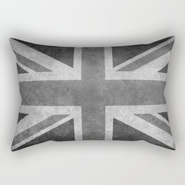 Union Jack Vintage retro style B&W 3:5 Rectangular Pillow
