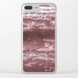 Brown wash drawing Clear iPhone Case