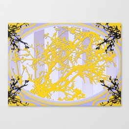 Vintage Gold and Lavender Trees Canvas Print