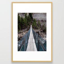Swinging Bridge Framed Art Print