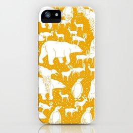 Polar gathering (orange juice) iPhone Case