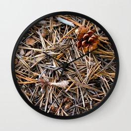 pine needles in yosemite Wall Clock