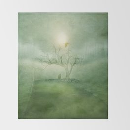 Greenery Sunrise Throw Blanket