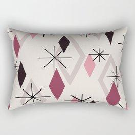 Mid Century Modern Diamonds Rectangular Pillow