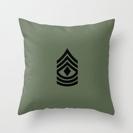 1st Sergeant (Green) Throw Pillow