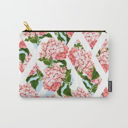 vintage flower wall Carry-All Pouch
