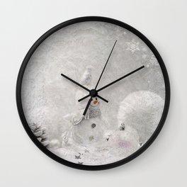 Cute snowman winter season Wall Clock