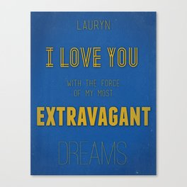 Extravagant Dreams Canvas Print