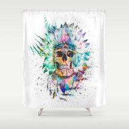 SKULL - WILD SPRIT Shower Curtain