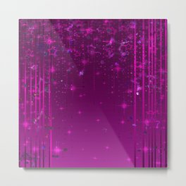 Purple rain . Metal Print