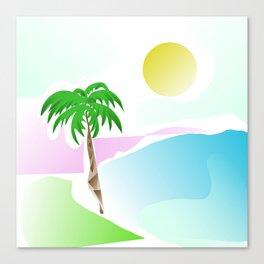 Tropical summer design Canvas Print