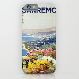 San Remo - Italy Vintage Travel Poster 1920 iPhone Case