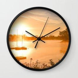 Idyllic Small Islet In A Lake Ultra HD Wall Clock