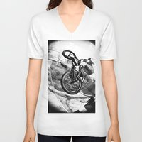 bikes V-neck T-shirts featuring bikes  by KayleeRae