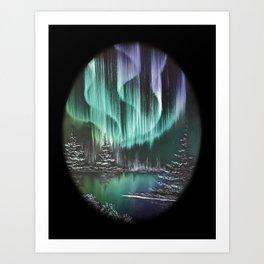 Northern Lights Reflections Art Print