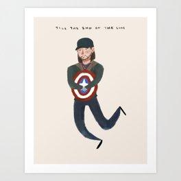 Bucky Barnes Art Print