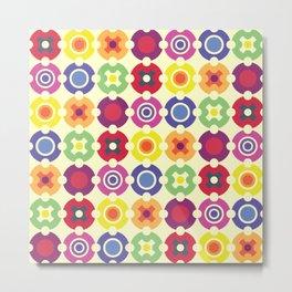 Multi Color Circle Geometric Shapes Metal Print