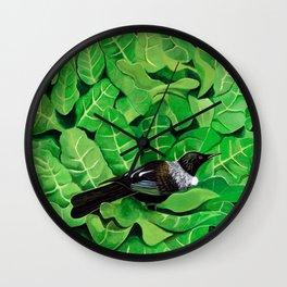 Tui in a Puka Wall Clock
