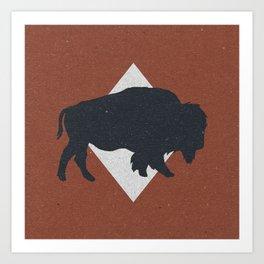 Bison & Blue Art Print