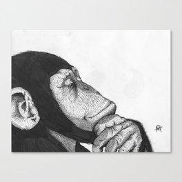 Thinking monkey Canvas Print
