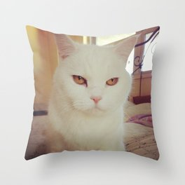 Cleo The Cat Throw Pillow