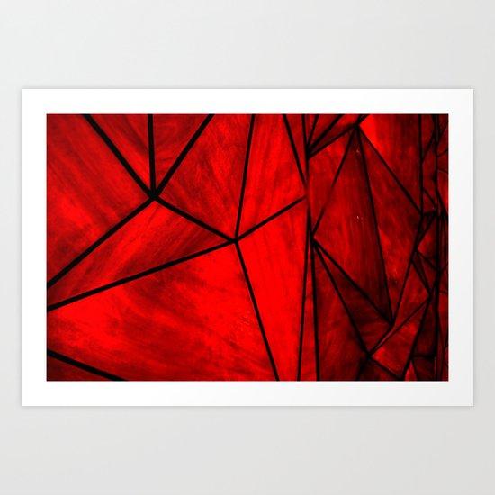 Modern Abstract Triangle Pattern Art Print