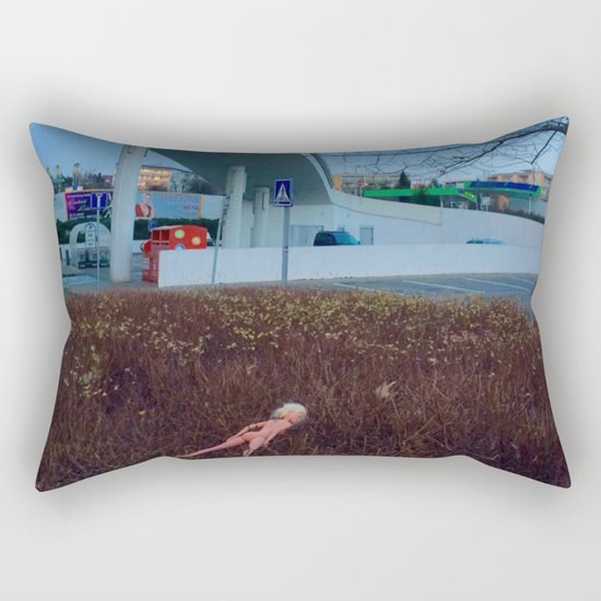prague, lost Barbie girl Rectangular Pillow