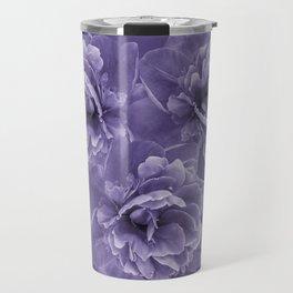 Ultra Violet Peony Flower Bouquet #1 #floral #decor #art #society6 Travel Mug