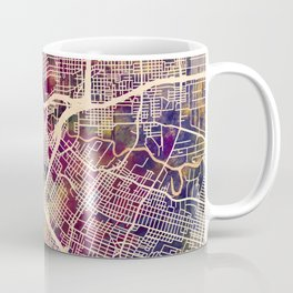 Houston Texas City Street Map Coffee Mug