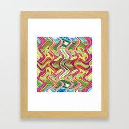 409 - Abstract Colour Design Framed Art Print