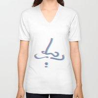 moustache V-neck T-shirts featuring Moustache by eduart illustration