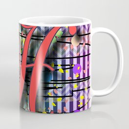 Alphabet Initial H Monogram Coffee Mug