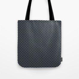 Black and Dusty Blue Polka Dots Tote Bag