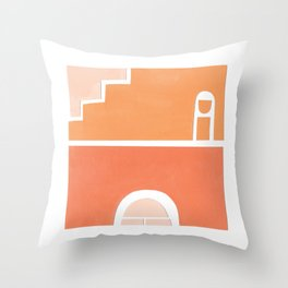 Upstairs Downstairs Collage Throw Pillow