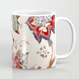 Tudor Floral Embroidery Low Poly Abstract Digital Art Painting Coffee Mug