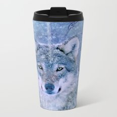Winter Wolf Metal Travel Mug