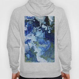 Abstract Nature Acrylic Pour Hoody