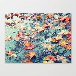 Fall leaves with a twist Canvas Print