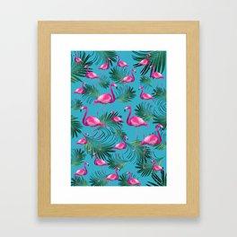 Summer Flamingo Palm Vibes #2 #tropical #decor #art #society6 Framed Art Print