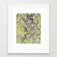 lv Framed Art Prints featuring LV NEONIZED by JANUARY FROST
