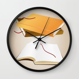 Books with background Wall Clock