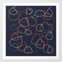 Crooked Circles #2 Art Print