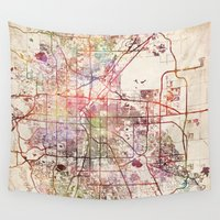 denver Wall Tapestries featuring Denver by MapMapMaps.Watercolors