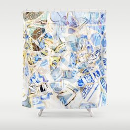 Mosaic of Barcelona I Shower Curtain