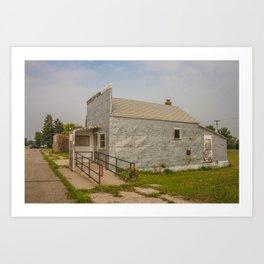 Post Office, Regan, North Dakota 5 Art Print