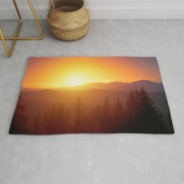 Sunset Over Mountainscape In Durau Romania Ultra HD Rug