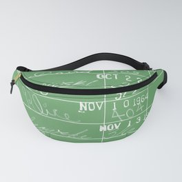 Library Card 23322 Negative Green Fanny Pack